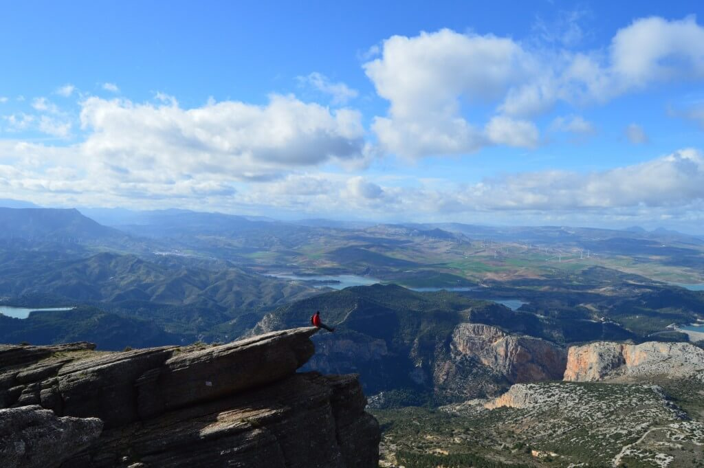 Sitting on the edge of the Tajo del Estudiante, Antequera, El Chorro