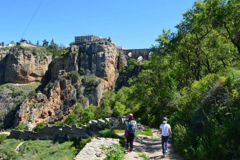 Walking down Ronda's gorge