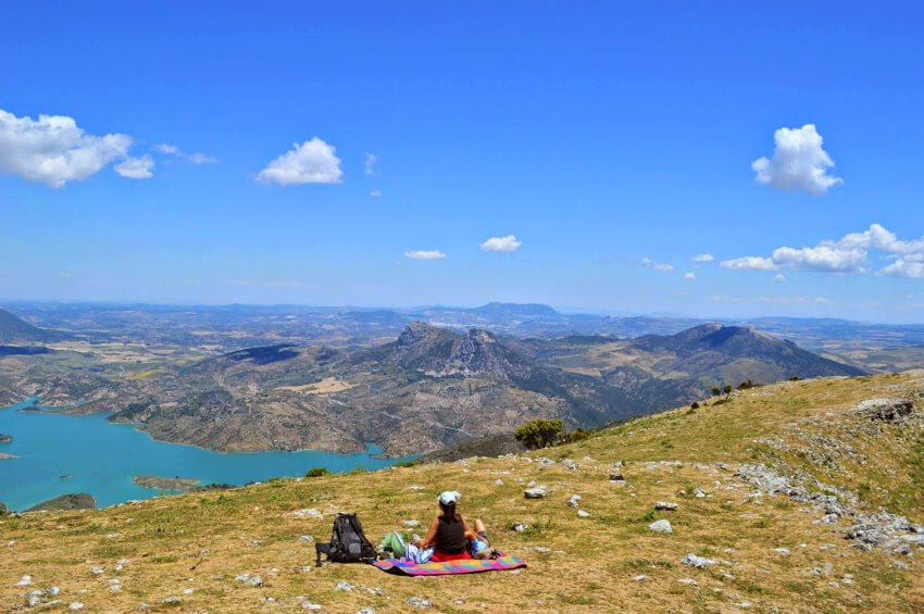 Family hike in Grazalema - view from top of Cerro Coros mountain