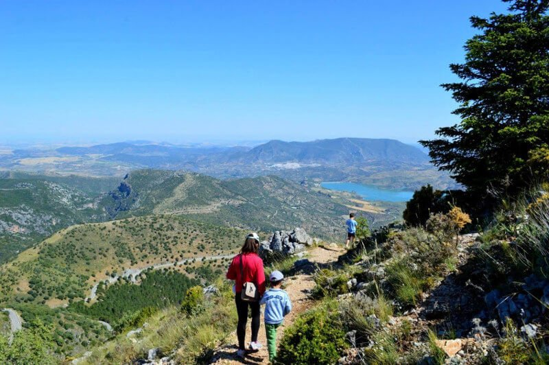 John Kramer family hike in Grazalema