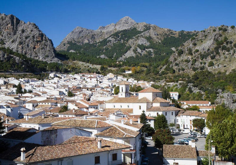 The village of Grazalema, Sierra de Grazalema